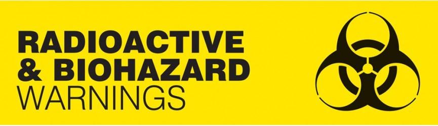 Radioactive and Biohazard Warning Signs