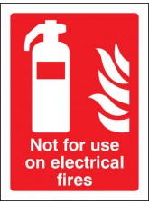 Not for use on Electrical Fires