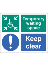 Temporary Waiting Space Keep Clear