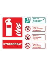 Hydrospray Extinguisher Identification