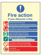Fire Action Auto Dial with Lift (English & Polish)