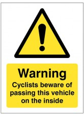 Cyclists Beware of Passing this Vehicle On the Inside