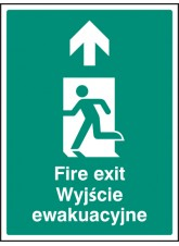 Fire Exit Arrow Up (English/polish)