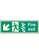 Fire Exit Down Left Photo HTM
