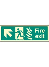Fire Exit Arrow Up Left HTM
