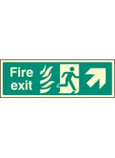 Fire Exit Arrow Up Right HTM