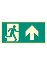 Intermediate Fire Exit Marker - Arrow Up / Straight on