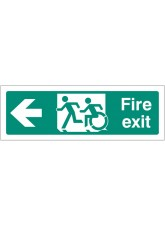 Inclusive Disabled Fire Exit Design - Arrow Left