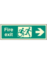 Disabled Fire Exit Arrow Right - Inclusive Design