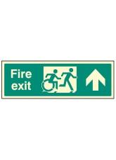 Disabled Fire Exit Arrow Up - Inclusive Design