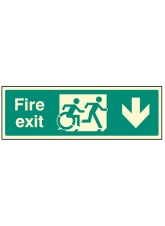 Disabled Fire Exit Arrow Down - Inclusive Design