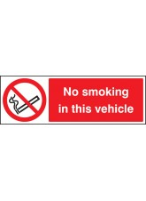 No Smoking in the Vehicle