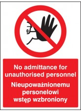 No Admittance to Unauthorised Personnel (English/polish)