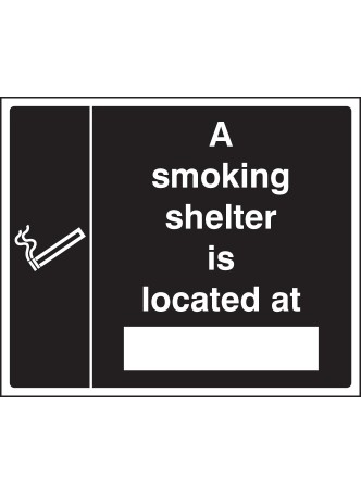 Smoking Shelter Located At (white/black)