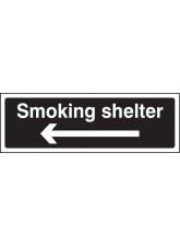 Smoking Shelter Left Arrow (White / Black)