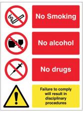 No Smoking, Alcohol, Drugs