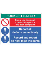 Forklift Safety Report defects and near misses…