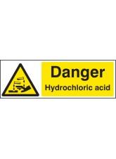 Danger Hydrochloric Acid