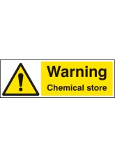 Warning Chemical Store