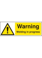 Warning Welding in Progress
