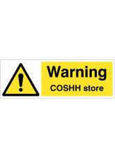 Warning COSHH store
