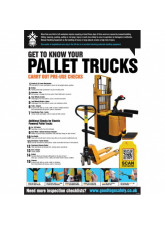 Pallet Truck Inspection Checklist Poster (A2)