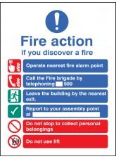 Fire Action EEC (Manual 999) - Quick Fix Sign