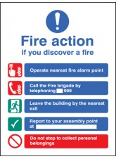 Fire Action EEC (Manual without Lift) - Quick Fix Sign