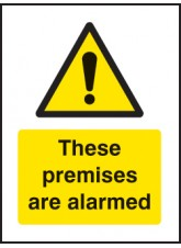 These Premises Are Alarmed - Window Sticker