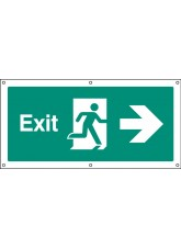 Exit Right - Banner with Eyelets
