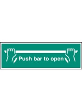 Push Bar to Open - Quick Fix Sign