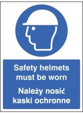 Safety Helmets Must Be Worn (English/polish)
