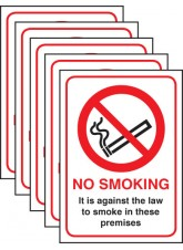 No Smoking English Law (Pack of 5)