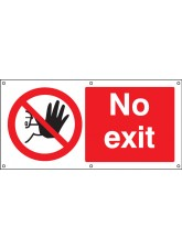 No Exit - Banner with Eyelets