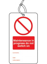 Maintenance in Progress - Double Sided Safety Tag (Pack of 10)