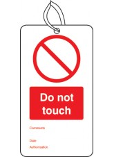 Do Not Touch - Double Sided Safety Tag (Pack of 10)