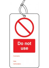 Do Not use - Double Sided Safety Tag (Pack of 10)