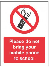 Please do not bring your mobile phone to school