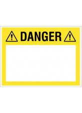 """Large Wipe Clean Board """"Danger (Write your Message)"""""""