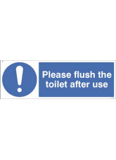 Please flush the toilet after use