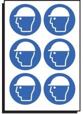 6 x Safety Helmet Symbol - 50mm Diameter