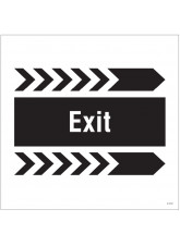 Exit, Arrow Right - Site Saver Sign - 400 x 400mm