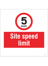 5mph Site Speed Limit - Site Saver Sign - 400 x 400mm