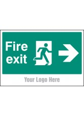 Fire Exit, Arrow Right - Site Saver Sign - 600 x 400mm