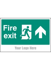 Fire Exit, Arrow Up - Site Saver Sign - 600 x 400mm