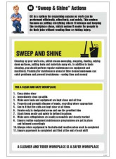 6S Sweep & Shine Actions Information Poster