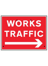 Re-Flex Sign - Works traffic arrow right