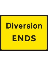 Diversion Ends - Class RA1 - 600 x 450mm