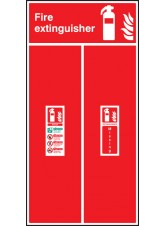Fire Extinguisher Location Board - Water