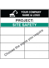 Personalised Site Safety Board - 1200 x 1200mm